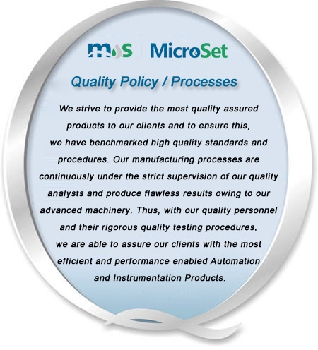 quality-policy Microsetcontrols